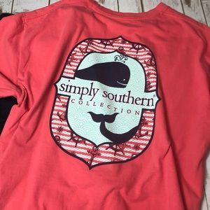 Simply Southern Preppy Whale Nautical Tee